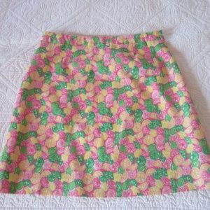 Lilly Pulitzer Skirt 4 Lemons/Limes Pockets